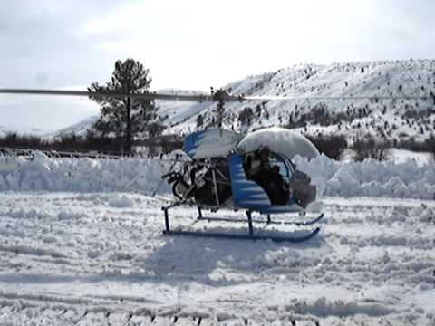 Helicopter coyote depredation hunt
