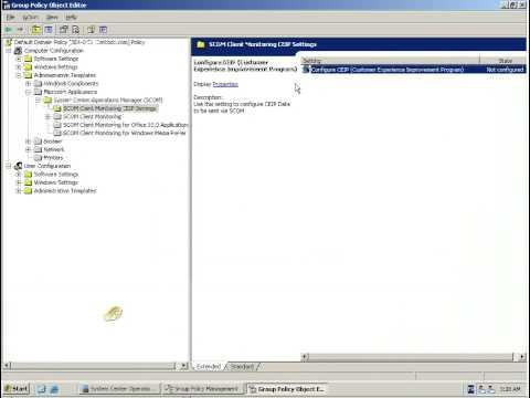 Microsft Desktop Optimization Pack - Phase 3 - Configuration de DEM