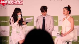 20150110 Lee Minho at Innisfree Festa Presscon KL, Malaysia