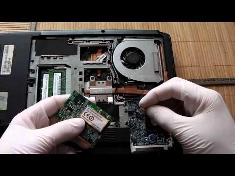 Jak Naprawić Komputer - Wymiana Karty WiFi W Laptopie Acer 5100 Odc 15