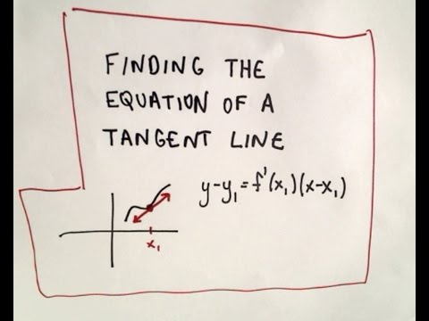 Finding the Equation of a Tangent Line Video