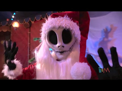 A conversation with Jack Skellington as Sandy Claws at Walt Disney World