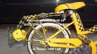 LOWRIDER BIKE TAXI CAB THEME 16 inch GOLD CHROME