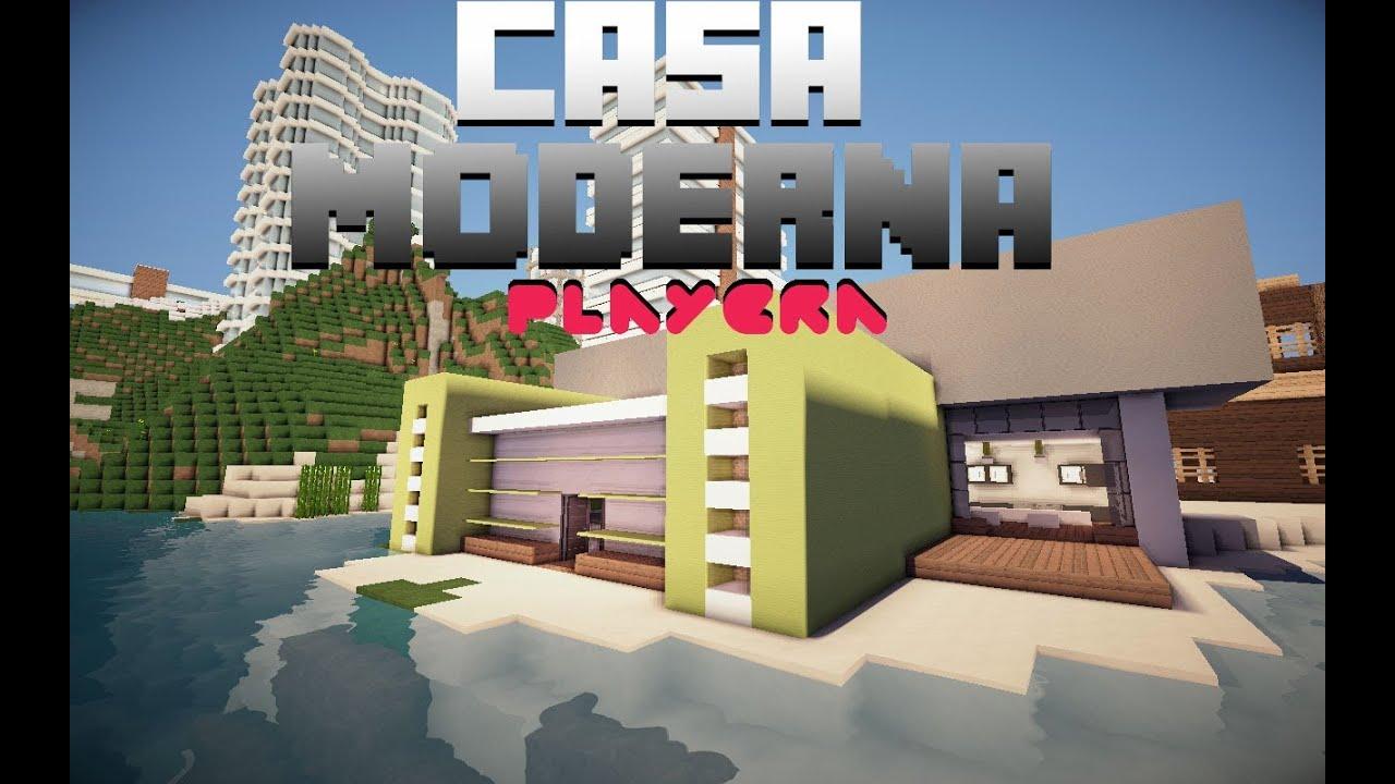 Como hacer una casa moderna en minecraft playera parte for Como disenar una casa moderna