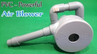 How to Make Powerful 12volt Air Blower Using 775 Motor and PVC Pipe