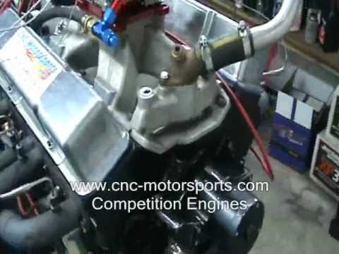 SB Chevy 421 Stroker Stock Car Engine Dyno 499 HP