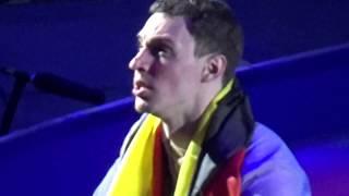 PAIRS AFTER VICTORY CERIMONY ALIONA SAVCHENKO/BRUNO MASSOT - WORLD FIGURE SKATING CHAMPIONSHIPS 2018