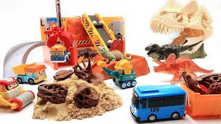 Dinosaur Skulls Toys! Dinosaur Fossil Transforming Real Dinosaur With Construction Toys~ Fun Video