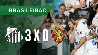 SANTOS 3 X 0 SPORT - GOLS - 18/08 - BRASILEIRÃO 2018