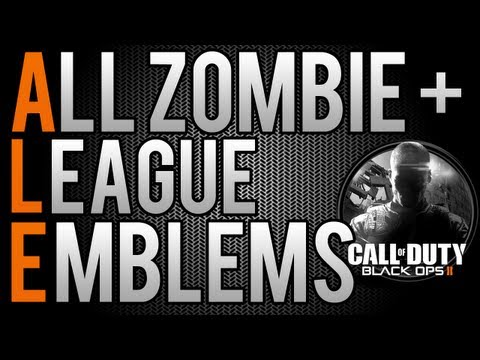 "BO2: All Zombie Emblems & League Play Emblems ""Black Ops 2 Zombies"
