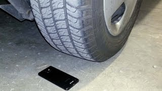 Galaxy S2 truck wheel crash test
