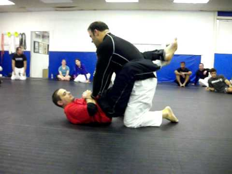 No Gi Brazilian Jiu Jitsu Guard Break and Pillow Choke