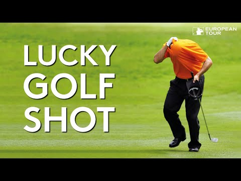 One of the luckiest golf shots ever