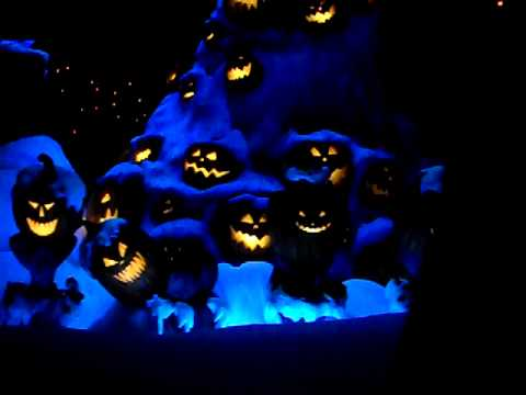Lots of Pumpkins at the Haunted Mansion
