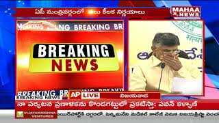Chandrababu Naidu Speaks To Media After AP Cabinet Meet | Cabinet Meeting Highlights