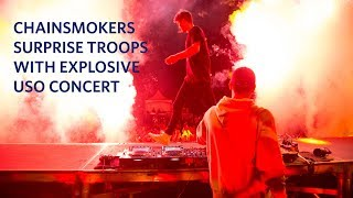 Watch The Chainsmokers Surprise Future Troops With Explosive USO Concert