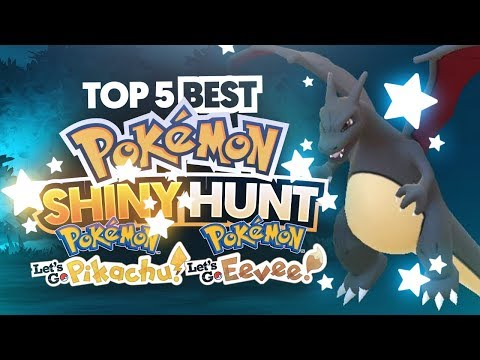 Top 5 BEST Pokemon to Shiny Hunt in Pokemon Let's Go Pikachu and Let's Go Eevee