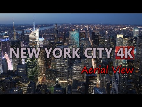 Ultra HD 4K New York City Travel USA Tourism Aerial View Skyline Cityscape UHD Video Stock Footage