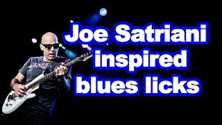 Learn Joe Satriani style blues licks and tips (rock blues guitar lesson with tabs)