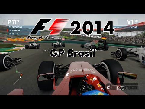F1 2014 GP Brasil - Carrera Alonso Gameplay