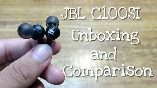jbl c100si unboxing and comparision with jbl t150a