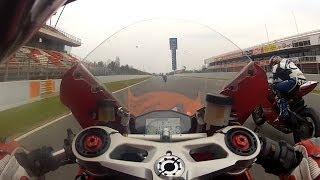 Ducati 1199 Panigale vs 1199R vs Desmosedici - Onboard Circuit de Catalunya, Montmeló