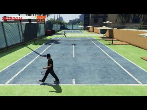 GTA V ONLINE GAMEPLAY:  Murray vs Roger Federer