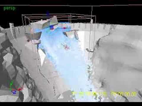 Hoover dam break simulation
