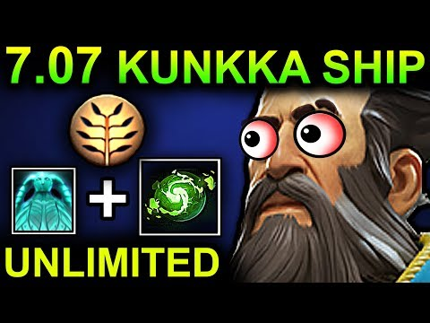UNLIMITED SHIP KUNKKA - DOTA 2 PATCH 7.07 NEW META PRO GAMEPLAY