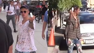 Celebrities Flipping Off The Paparazzi