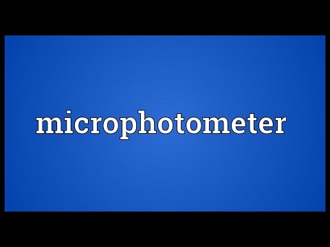Header of microphotometer