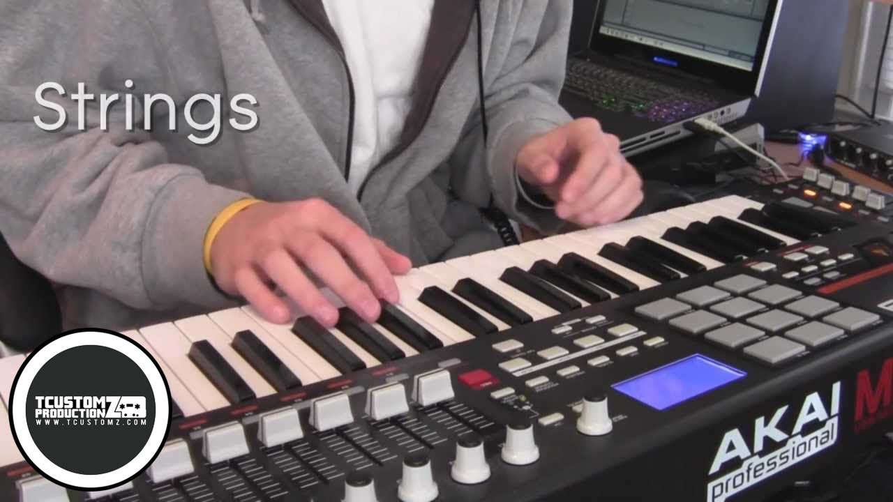 Piano Hip Hop Beat Making Video W Akai Mpk49 Not As It