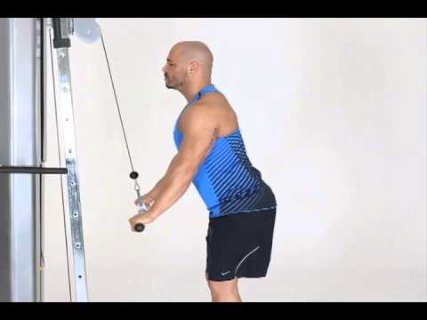 standing cable tricep pushdowns wide overhand grip youtube