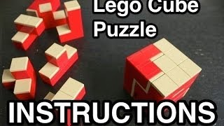 Lego Cube Puzzle Instructions / tutorial