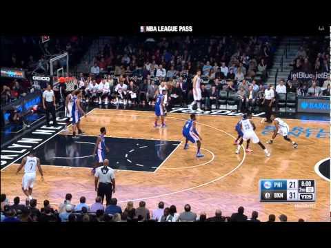 Markel Brown Brooklyn Nets Jumper vs 76ers on 12/10/15