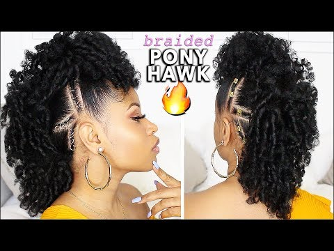 Download Lagu  EASY & DEFINED CURLY BRAIDED MOHAWK! ⇢ natural hair tutorial Mp3 Free