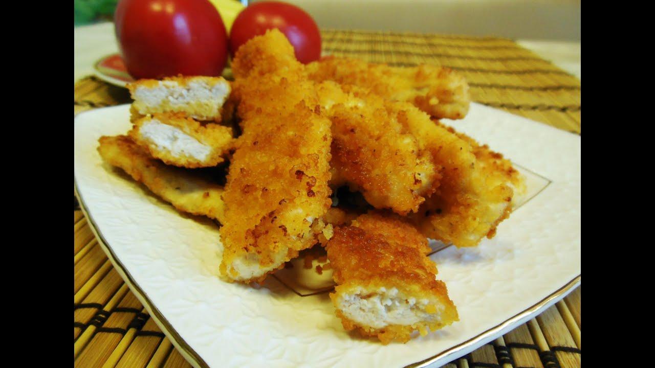 Пальчики из куриной грудки рецепт