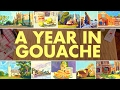 A Year in Gouache - 2016 Painting Tour