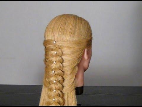 Прическа с плетением. Braid Hairstyle for  Long Hair Tutorial