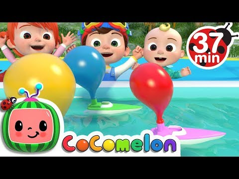 Balloon Boat Race | +More Nursery Rhymes & Kids Songs - ABCkidTV