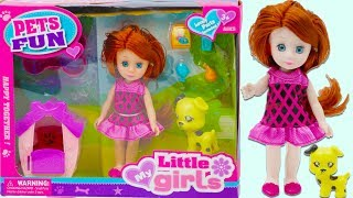 Unpacking Toy Pet 🐶 House & Little Baby Doll for Kids