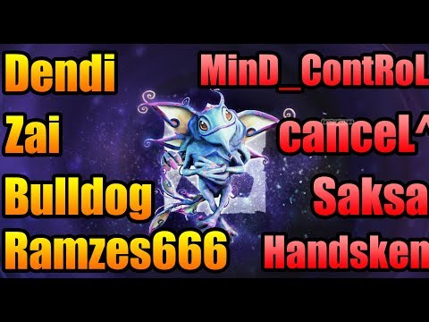 Dendi + Zai + BullDog + Ramzes666 vs MinD_ContRoL + canceL^^ - FACEIT League Dota 2