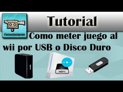 Como meter juegos al Wii por USB o Disco Duro Externo
