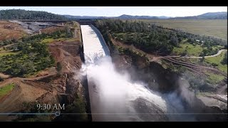 Oroville 15 April Narrated Spillway Re-Opening DWR Footage