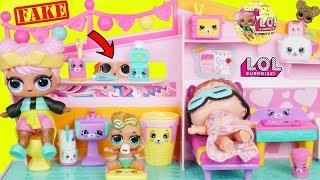 Fake LOL Surprise Dolls Open New Shopkins Happy Places!