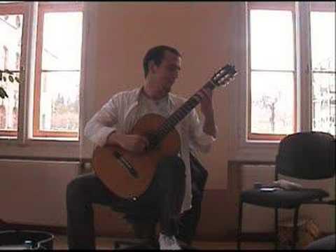 Dusan Stojanovic, Bach, Gigue d-moll Partita BWV 1004 SABMAR