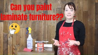 How to Paint Laminate Furniture with General Finishes Milk Paint