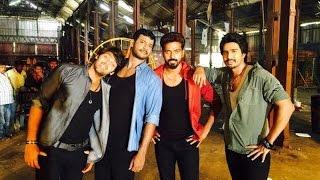 Vishal, Arya and Vishnu shake their leg for Vikranth | Piravi Movie Song Making