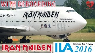 IRON MAIDEN *Ed Force One*│ILA Berlin Air Show 2016│With Deboarding