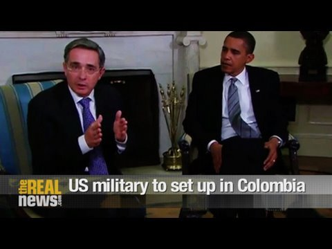 US military to set up in Colombia Video